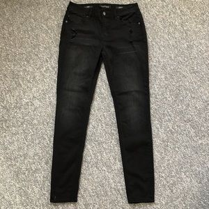 Vigoss Jagger skinny jeans distressed black Sz 28